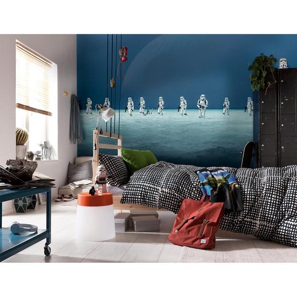 "Komar Fototapete ""Star Wars – Scarif Beach"" 368 X 254 Cm Breite X Höhe 8 Teile Inklusive Kleister"