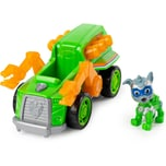 Spin Master PAW Patrol Mighty Pups Super Paws Recyclingtruck mit Rocky-Figur Basic Themed Vehicle