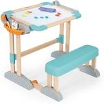 Smoby Zusammenklappbarer modularer Holz-Spieltisch 2-in-1 Tafel - Maltisch - Schreibtisch