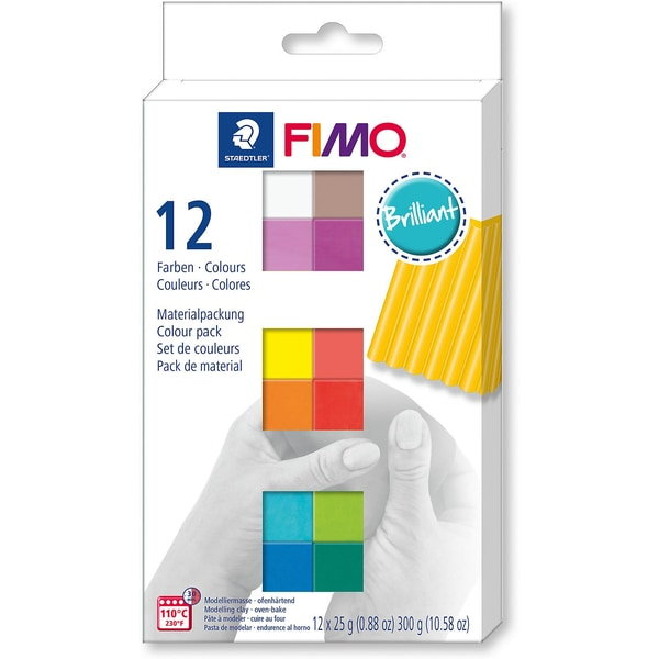 Staedtler Fimo soft Materialpackung Brilliant Colours 12 x 25 g
