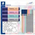 Staedtler Schreibset XL Pastell 15-tlg. inkl. Sticker
