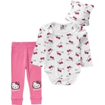 Hello Kitty Baby Set Body Sweathose Mütze für Mädchen
