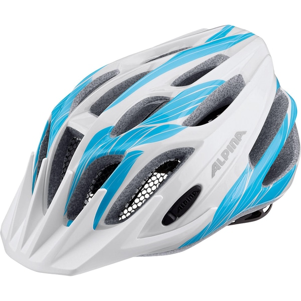 Alpina Fahrradhelm FB Jr. 2.0 white-cyan 50-55