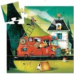 DJECO Puzzle Das Feuerwehrauto 16 Teile
