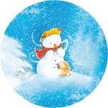 Nestler Weihnachtsbaumkugel zum Befüllen Winterzeit mit Hase 10 cm