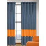 Vorhang Uni blau-orange 245x135 1 Schal