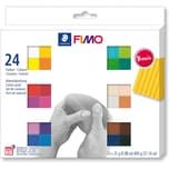 Staedtler Fimo soft Materialpackung Basic Colours 24 x 25 g