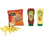 Chr. Tanner Spiellebensmittel McCain Pommes mit Ketchup und Mayo
