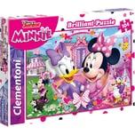 Clementoni Brilliant Puzzle 104 Teile - Minnie Daisy