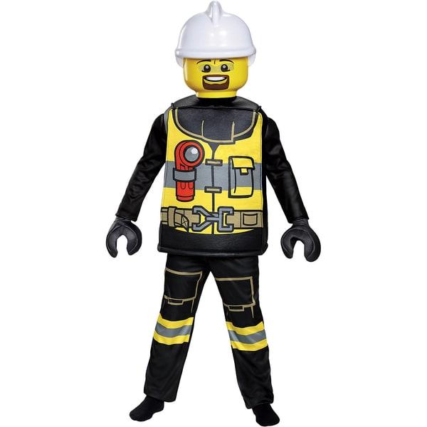 LEGO Kostüm LEGO Feuerwehrmann Deluxe 5-tlg.