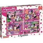 Jumbo 4in1 Puzzles 12/20/30/36 Teile - Minnie Mouse