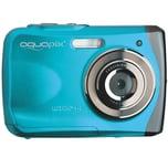 """easypix Unterwasser Digitalkamera Aquapix W1024 """"Splash"""" eisblau"""