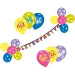 Riethmüller Luftballon-Dekoset Let's Party. 24-tlg.