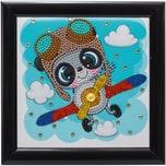 CRAFT Buddy Kristallkunst-Rahmenset mit Bilderrahmen Fliegender Panda