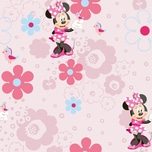 Decofun Tapete Minnie Mouse Blumen 10 m x 53 cm