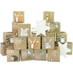 Adventskalender Kisten bedruckt - Waldtiere