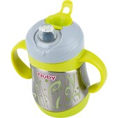 Nuby Thermo Trinkbecher Clik-It Edelstahl 220 ml