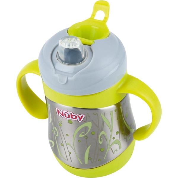 Nuby Thermo Trinkbecher Clik-It Edelstahl 220 ml