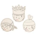 Sunnysue Namensschilder Holz Jungen zum Selbstgestalten 3 Stück