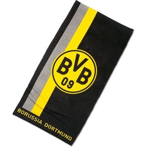 Borussia Dortmund BVB-Handtuch mit Logo im Streifenmuster 50x100cm