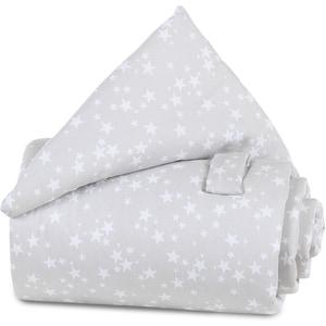 Tobi Frontgitter-Nestchen für babybay Beistellbetten perlgrau mit weißen Sternen 79 x 28 cm