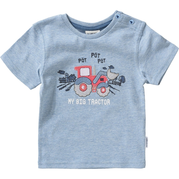 Salt and Pepper Baby T-Shirt für Jungen Traktor