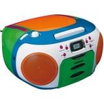 Lenco CD-PlayerKinderradioKassettenrekorder SCD-971 multicolor