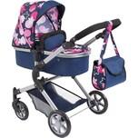 BAYER Puppenwagen City Neo blau mit rosa Sternen