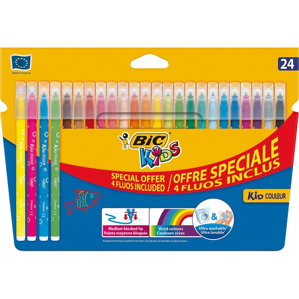 BIC Kids Kid Couleur Filzstifte 24 Farben