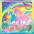 Ravensburger 2er Set Malset Mixxy Colors Glow 25x25 cm mit Leuchtfarbe Traumhafte Einhörner