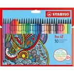STABILO Filzstifte Pen 68 30 Farben