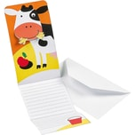 Amscan Einladungskarten Farm Fun 8 Stück inkl. Umschläge