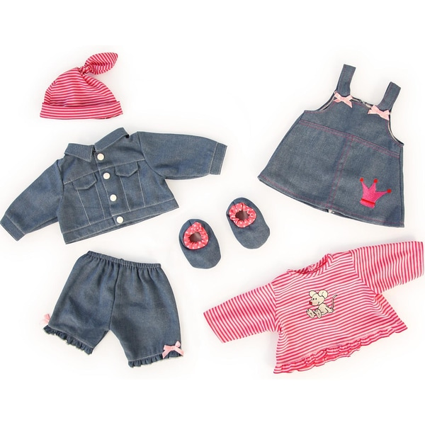 BAYER Puppenkleidung Jeans-Set 42-46cm