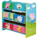 Ablageregal Peppa Pig mit 6 Boxen