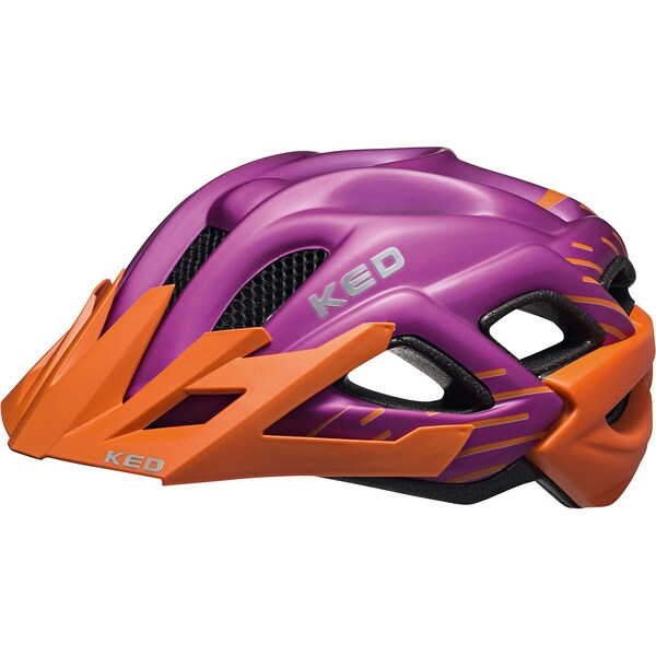 KED Helmsysteme Fahrradhelm Status Junior lila-orange