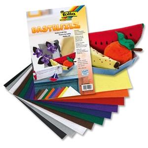 Folia Bastelfilz 10 Blatt farbig sortiert