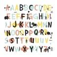 RoomMates Wandsticker Alphabet bunt