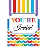 Amscan Einladungskarten Bright Birthday 10 Stück inkl. Umschläge