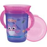 """Nuby 360° Trinklerntasse mit Griffen """"WONDER CUP"""" 240 ml Purple"""