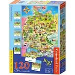 Castorland Lernpuzzle 120 28 Teile Deutschlandkarte