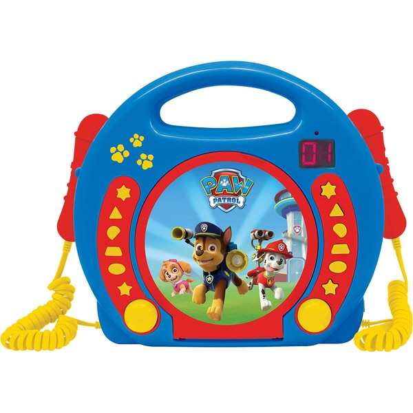 Lexibook Paw Patrol Kinder CD Player mit 2 Mikrofonen