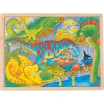 goki Einlegepuzzle 48 Teile Dinosaurier
