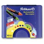 Pelikan Wachsmalstifte wasservermalbar Box mit 10 Farben