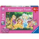 Ravensburger 2er Set Puzzle je 24 Teile 26x18 cm Disney Palace Pets Beste Freunde der Prinzessinnen