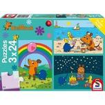 Schmidt Spiele Kinderpuzzleset 3 x 24 Teile Die Maus, Gute Freunde