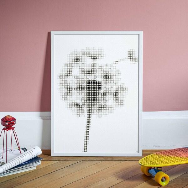 dot on dot on art - pusteblume 50 x 70 cm