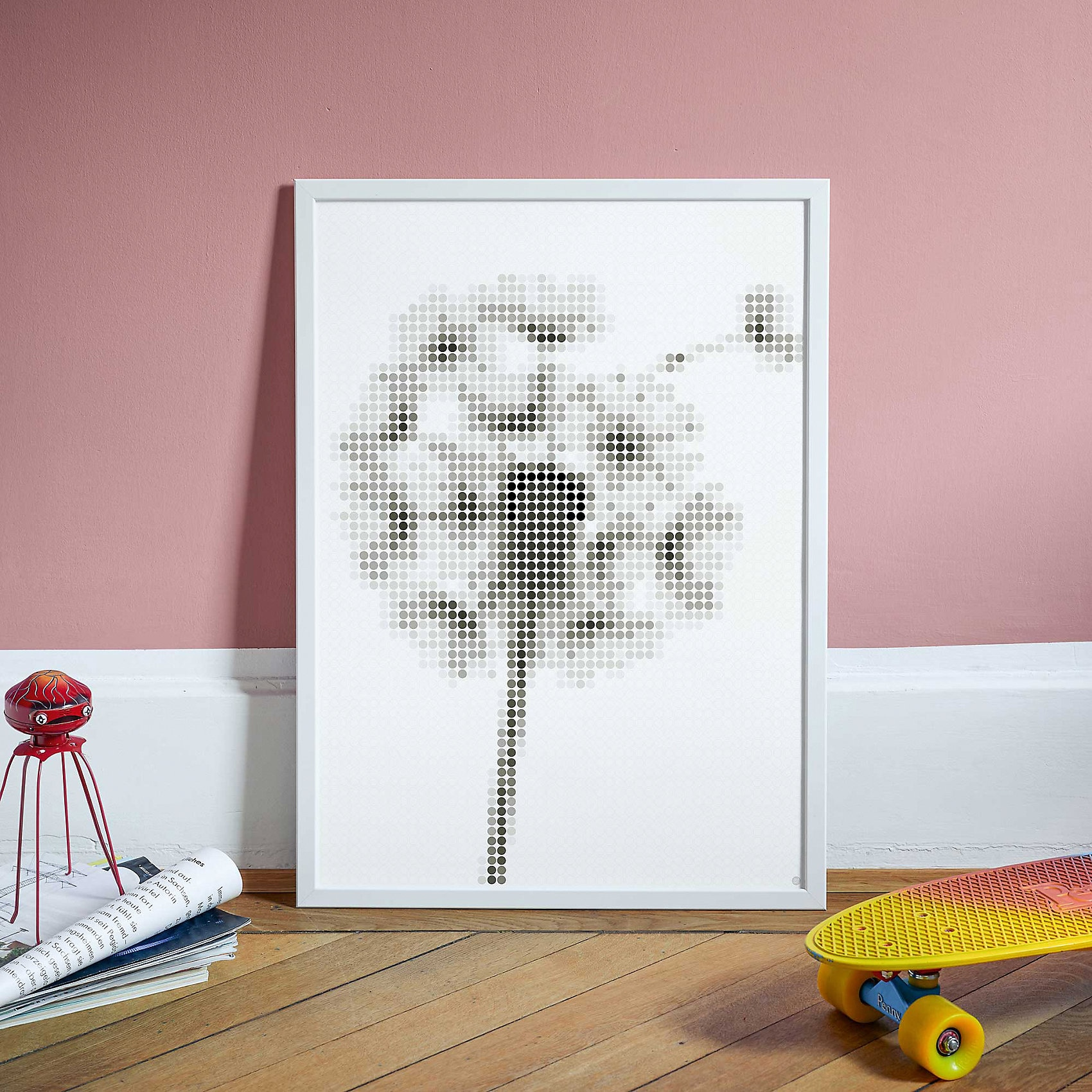 dot on dot on art - pusteblume 50 x 70 cm
