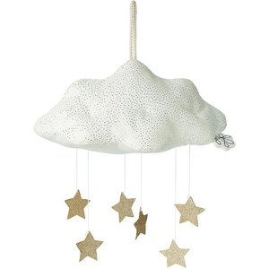 Picca Loulou Mobile Wolke mit Sternen Weiß 34cm