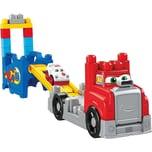 Mattel Mega Bloks Fast Tracks Rennwagen-Transporter mit Geräuschen 15 Teile