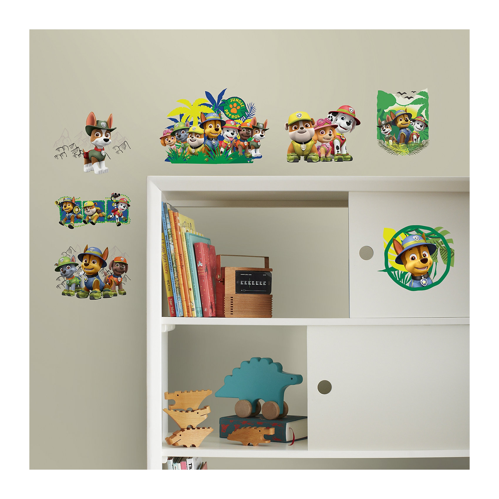 RoomMates Wandsticker Paw Patrol Jungle 14-tlg